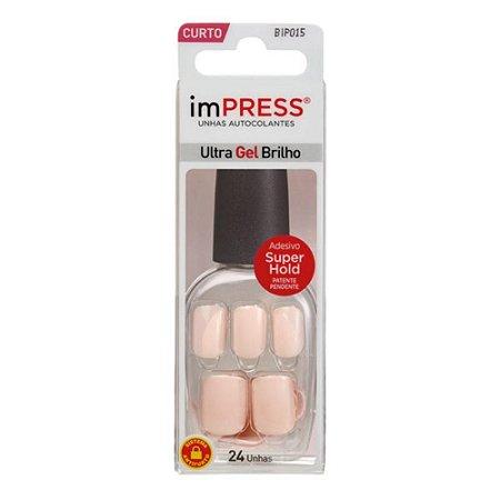 Unhas Kiss Impress Color Bubble Gum BIP015BR