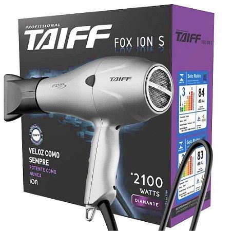 Secador Taiff Fox Ion S 2100W Prata 127V