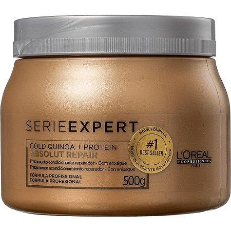 Máscara Loreal Profissional Absolut Repair Gold Quinoa 500gr