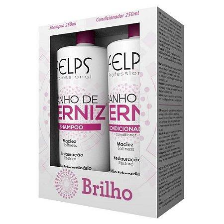 Kit Felps Banho de Verniz Shampoo 250ml + Condicionador 250ml