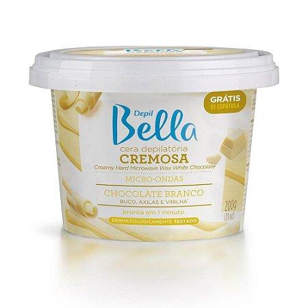 Cera Cremosa Depil Bella Micro-Ondas Chocolate Branco 200Gr