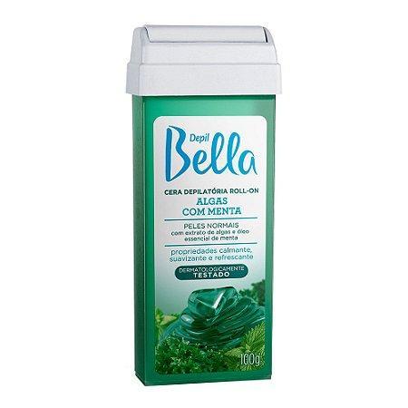 Cera Refil Roll On Depil Bella Algas Menta 100G