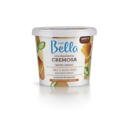 Cera Cremosa Depil Bella Micro-Ondas Mel E Aloe Vera 100G