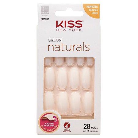 Unhas Kiss Salon Natural Bailarina KSN07BR