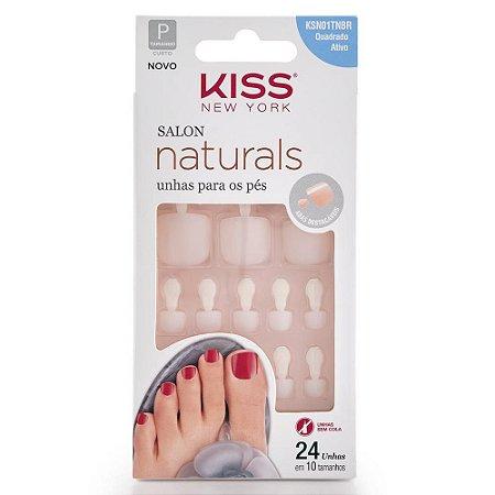 Unhas Kiss Salon Natural Para Pés KSN01TNBR