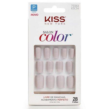 Unhas Kiss Salon Color Little Princess KSC54BR
