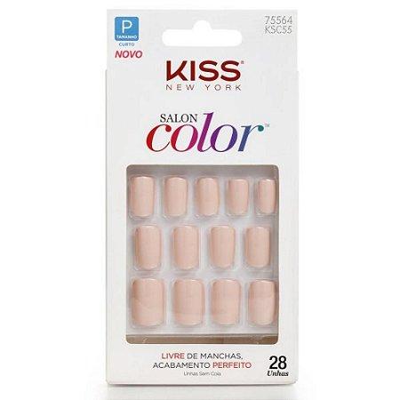 Unhas Kiss Salon Color Sweet Girl KSC55BR