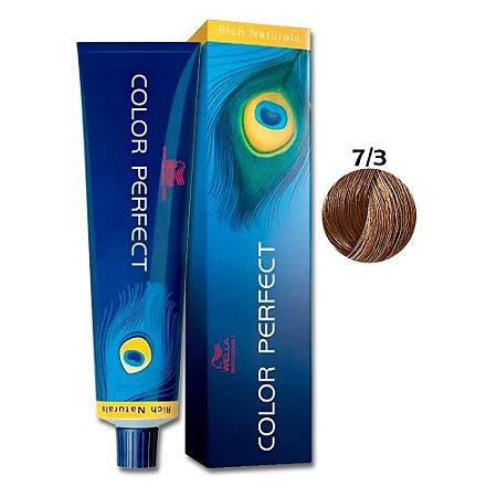 Coloração Wella Color Perfect 7/3 Louro Médio Dourado