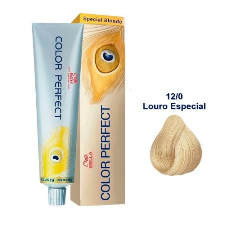 Coloração Wella Color Perfect 12/0 Louro Especial