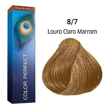 Coloração Wella Color Perfect 8/7 Louro Claro Marrom