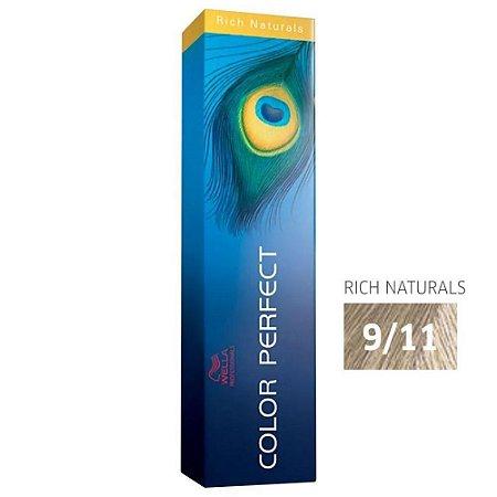 Coloração Wella Color Perfect 9/11 Louro Ultraclaro Cinza