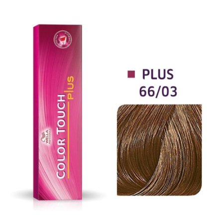 Tonalizante Wella Color Touch Plus 66/03 60g Louro Escuro Intenso Natural Dourado