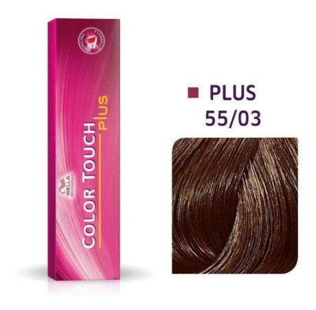 Tonalizante Wella Color Touch Plus 55/03 60g Castanho Claro Intenso Natural Dourado