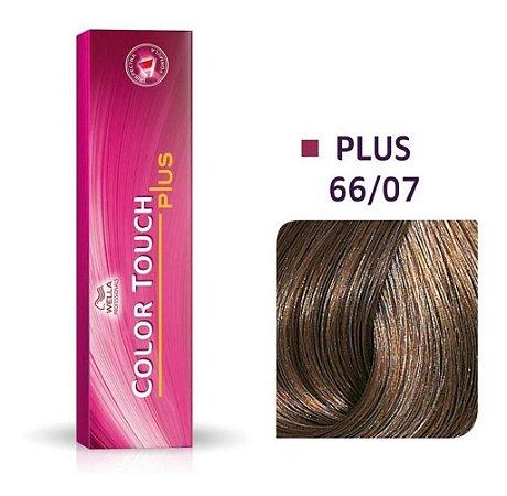 Tonalizante Wella Color Touch Plus 66/07 60g Louro Escuro Intenso Natural Marrom