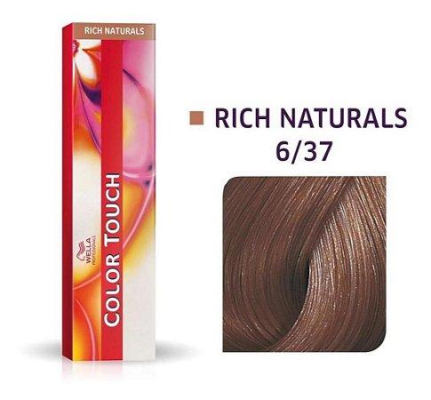 Tonalizante Wella Color Touch 6/37 60gr Louro Escuro Dourado Marrom