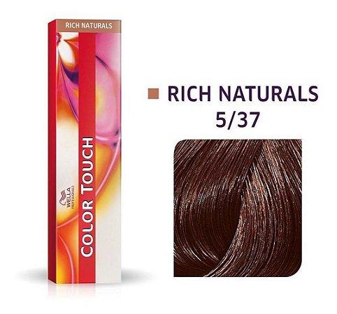 Tonalizante Wella Color Touch 5/37 60gr Castanho Claro Dourado Marrom