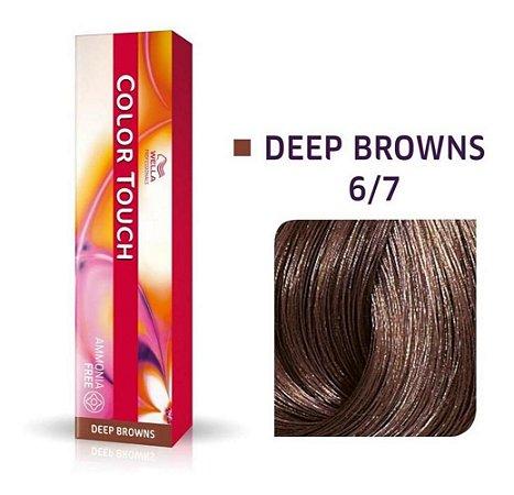 Tonalizante Wella Color Touch 6/7 60gr Louro Escuro Marrom