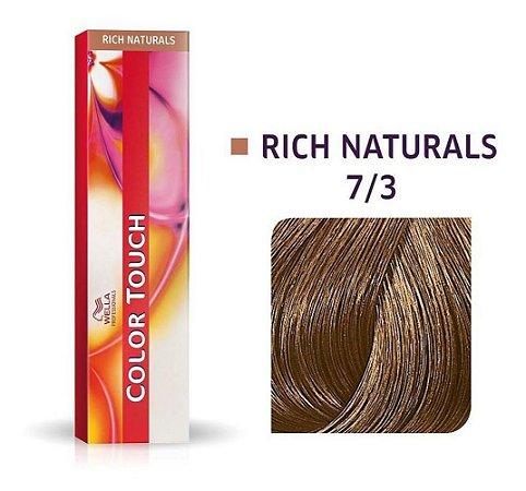 Tonalizante Wella Color Touch 7/3 60gr Louro Médio Dourado