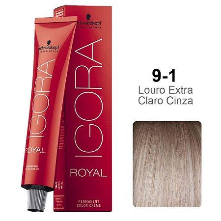 Coloração Schwarzkopf Igora 9-1 Louro Extra Claro Cinza