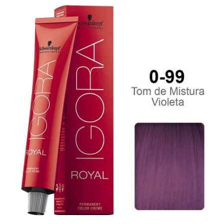 Coloração Schwarzkopf Igora 0-99 Tom de Mistura Violeta