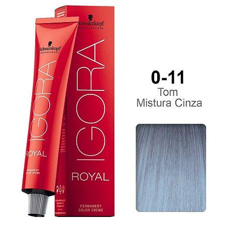 Coloração Schwarzkopf Igora 0-11 Tom de Mistura Cinza