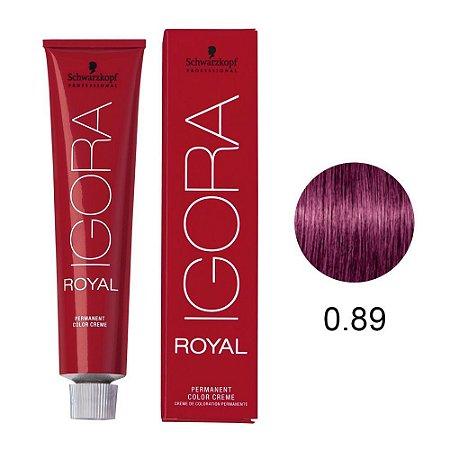 Coloração Schwarzkopf Igora 0-89 Tom de Mistura Vermelho Violeta