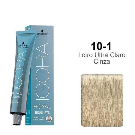 Coloração Schwarzkopf Igora Highlifts 10-1 Louro Ultra Claro Cinza