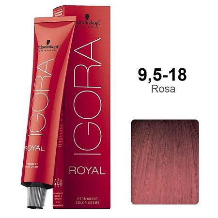 Coloração Schwarzkopf Igora 9,5-18 Rosa