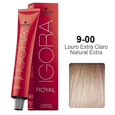 Coloração Schwarzkopf Igora 9-00 Louro Extra Claro Natural Extra