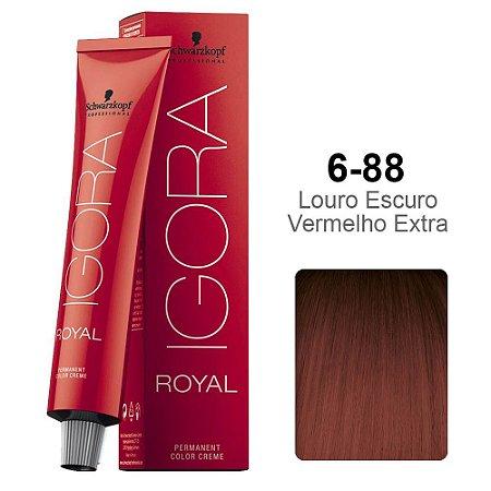 Coloração Schwarzkopf Igora 6-88 Louro Escuro Vermelho Extra