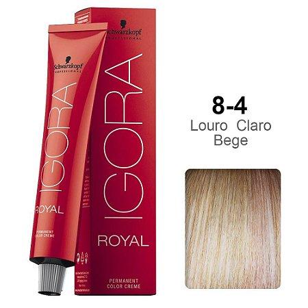 Coloração Schwarzkopf Igora 8-4 Louro Claro Bege