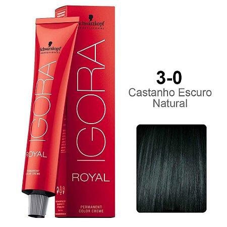 Coloração Schwarzkopf Igora 3-0 Castanho Escuro Natural
