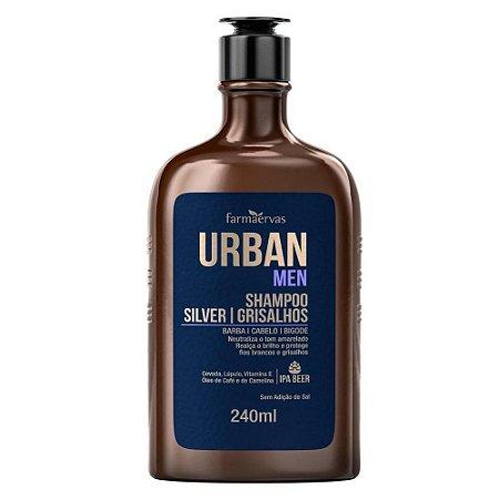 Shampoo Silver Grisalhos Urban Men  240Ml