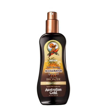 Acelerador Australian Gold Spray Gel Dark Tanning Instant Bronzer 237Ml