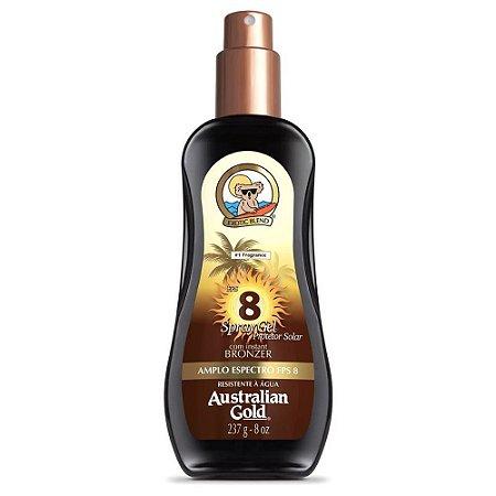 Bronzeador Australian Gold Spray Gel Fps 8 237Ml