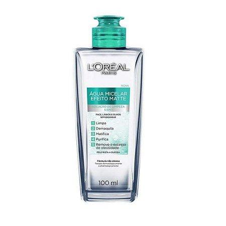 Agua Micelar Loreal Efeito Matte 100Ml