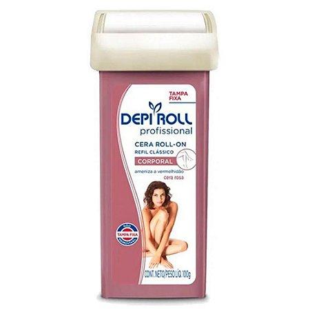 Cera Refil Roll On Depi Roll Rosa 100Gr