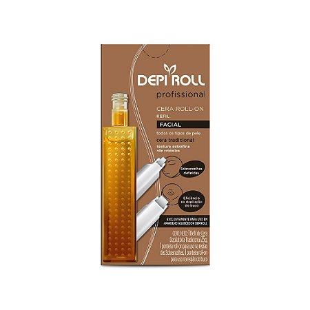 Cera Refil Roll On Depi Roll Facial Tradicional 25gr