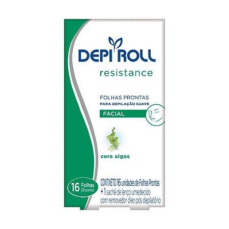 Folhas Prontas Depi Roll Facial Algas C/16