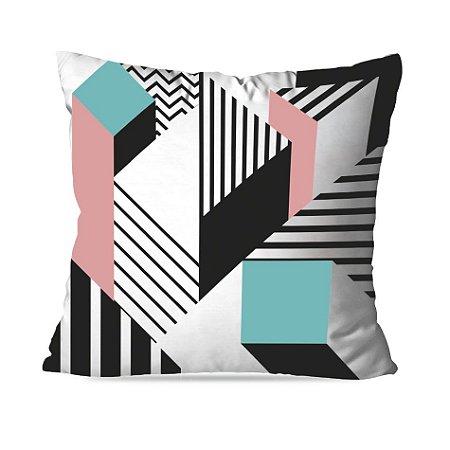 Almofada geométrica rosa