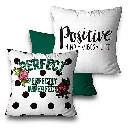 kit 3 almofadas positive vibes