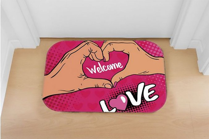 TAPETE DECORATIVO LOVE