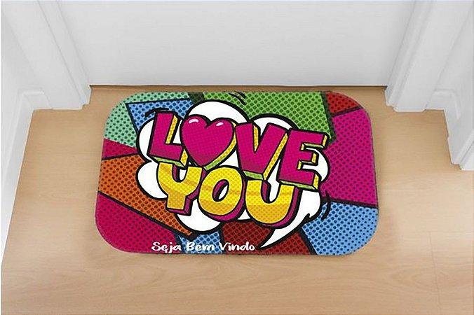 Tapete decorativo Love you