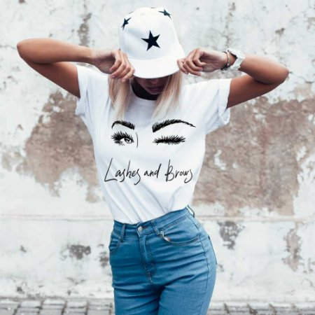 Camiseta T-shirt Feminina cílios