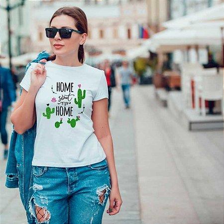 Camiseta T-shirt Feminina Home sweet