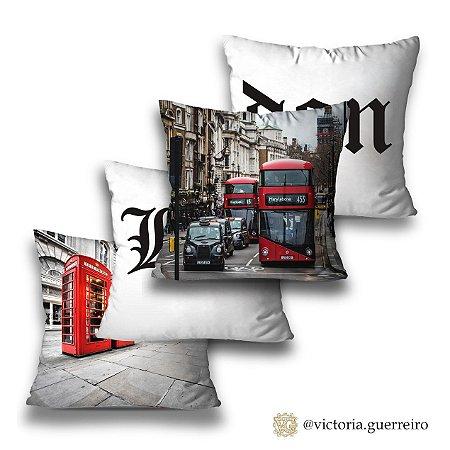 Kit 4 almofadas London