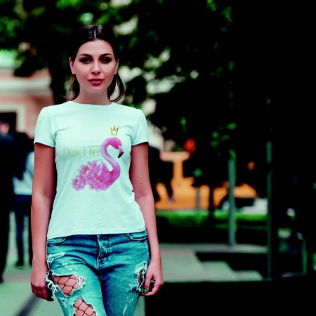 Camiseta T-shirt Feminina Flamingo