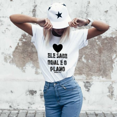 Camiseta T-shirt Feminina Plano