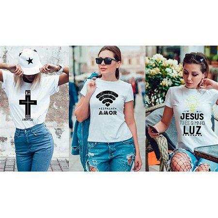 Kit 3 camisetas T-shirt  feminina Luz