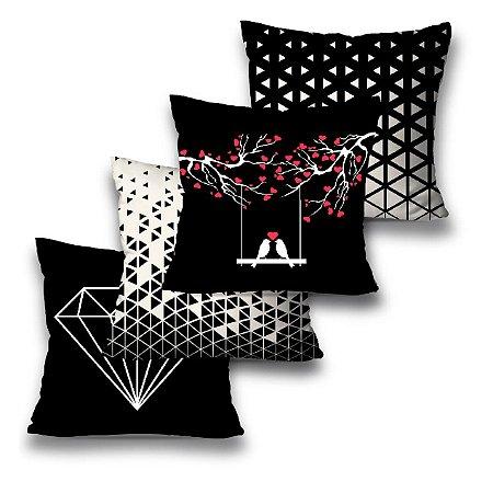 Kit 4 almofadas Diamantes
